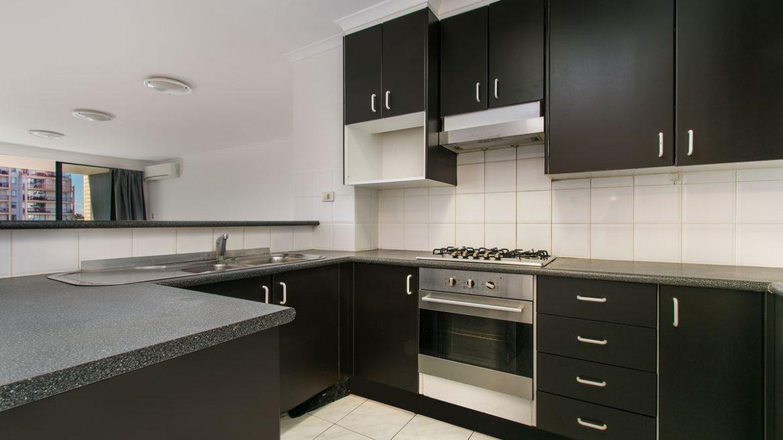 Black U Shape Modular Kitchen