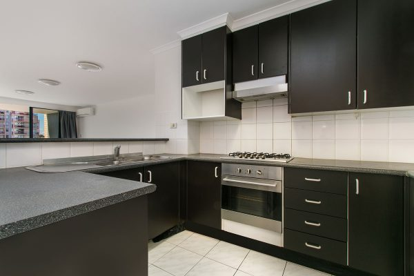 Black U Shape Modular Kitchen