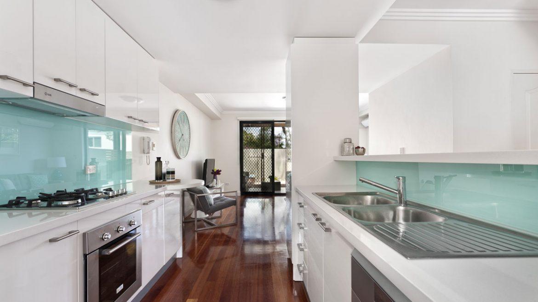 Classic White Parallel Modular Kitchen Cabinet