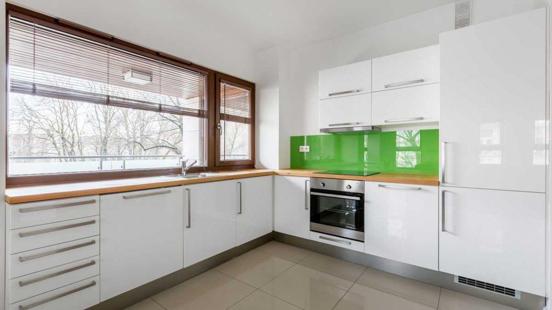 Gloss White L Shape Modern Kitchen