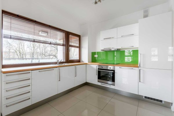 Gloss White L Shape Modern Kitchen