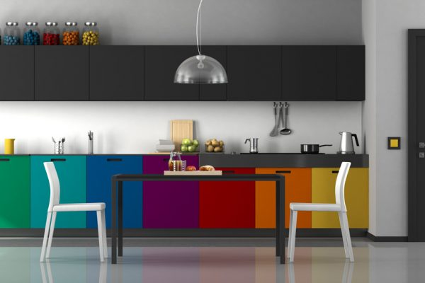 Rainbow Straight Modular Kitchen