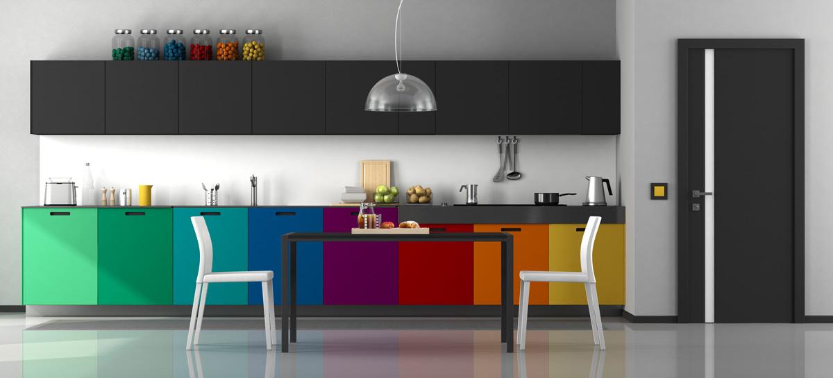 Rainbow Straight Modular Kitchen