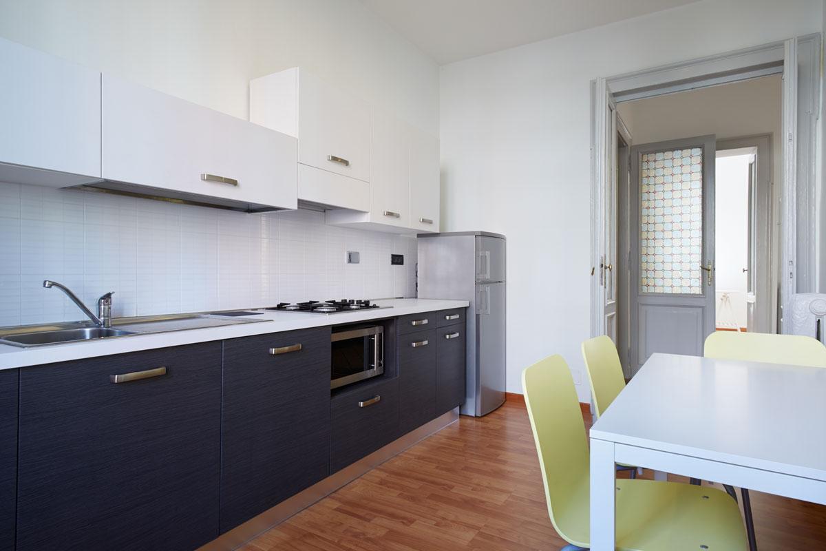 Straight Navy Blue Modular Kitchen