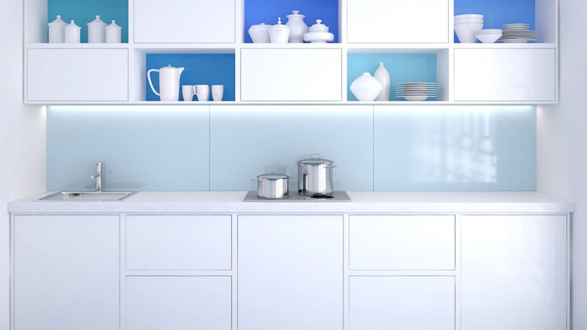 White Gloss Modular Kitchen