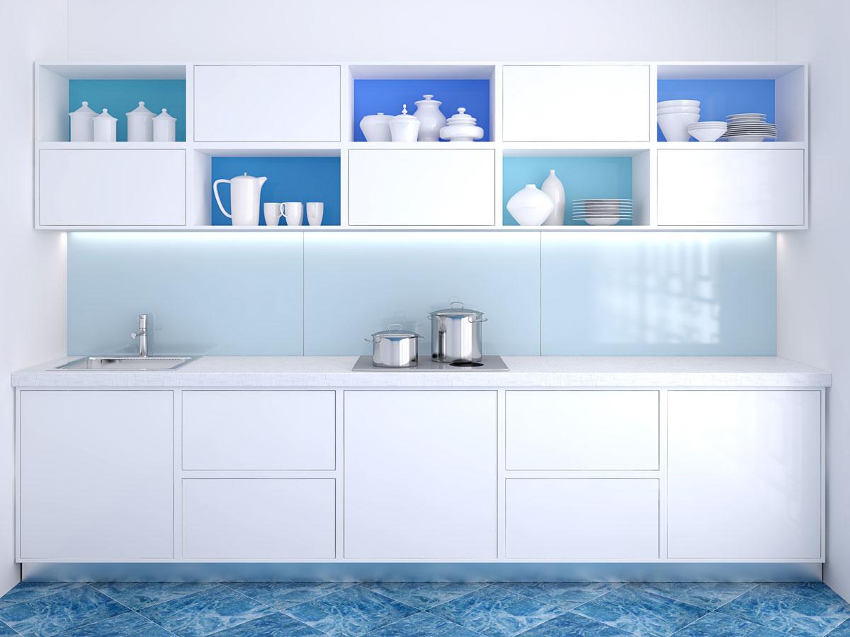 White Gloss Modular Kitchen